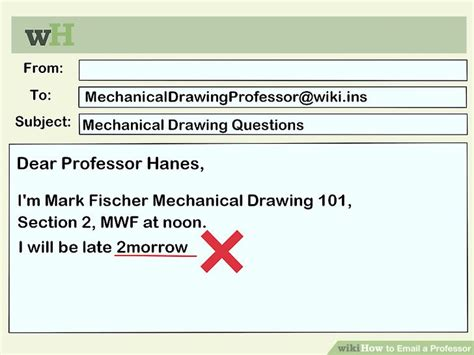 format email professor how to email a professor with sle emails wikihow