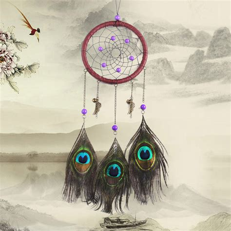 American Indian Decorations Home by American Indian Style Purple Bead Dream Catcher With