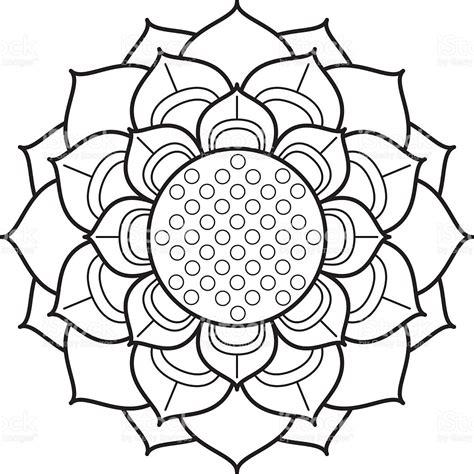 fiore di loto disegno disegno fiore di loto ornamentale immagini vettoriali