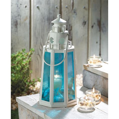 koehler home decor ocean blue lighthouse candle l wholesale at koehler