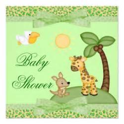 safari animals cheetah print baby shower 5 25x5 25 square