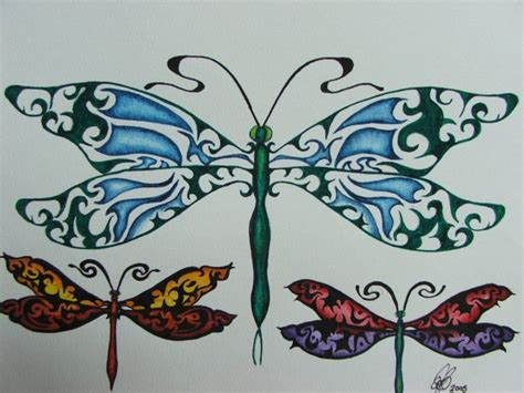 cool dragonfly tattoos design tattoo love pinterest