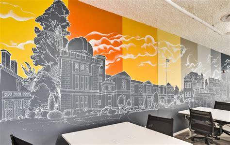 chalk mural   offices  washington dc graffiti usa