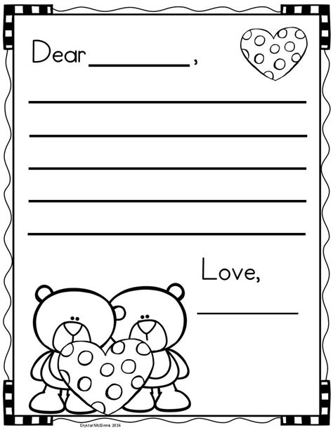 valentines day letter writing templates ystaevaenpaeivae
