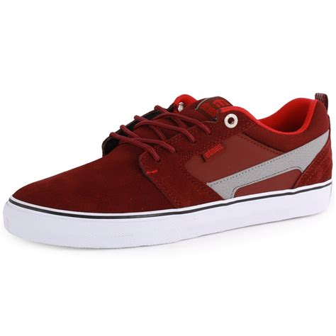 etnies rap ct mens suede maroon skate trainers new shoes