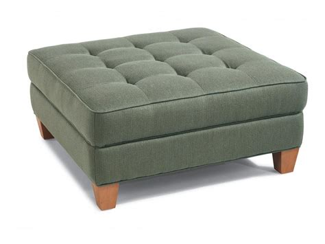 fabric ottomans flexsteel living room fabric square cocktail ottoman 7413