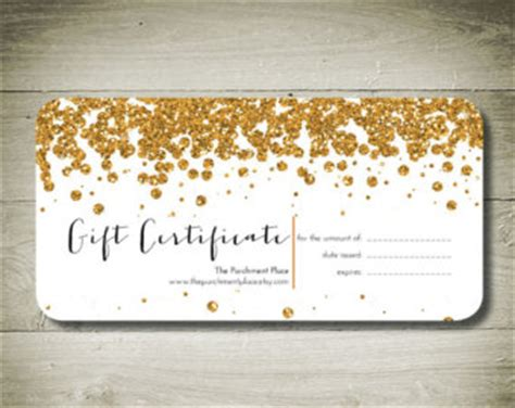 custom gift card template all that glitters custom personalised gift certificate