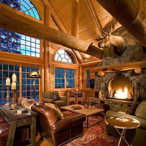 Log Home Living Rooms by Wow Awesome Room Log Homes Cabins Tree Houses