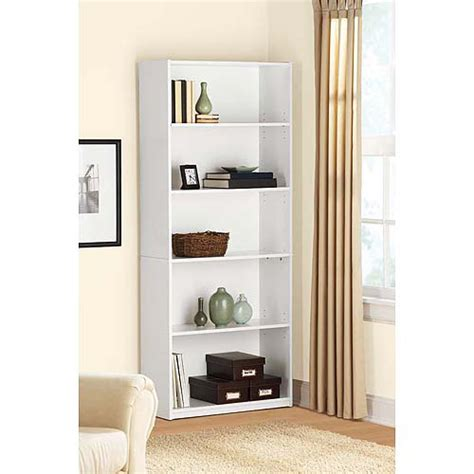 mainstays white bookcase walmart