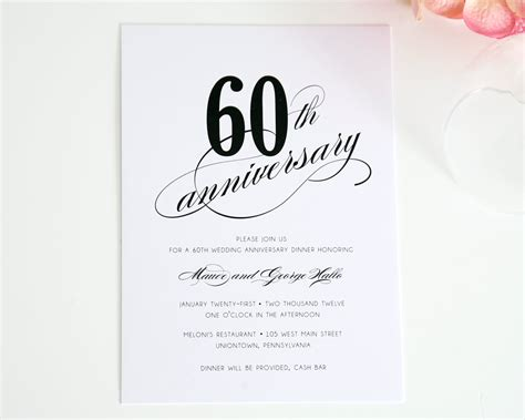 60th wedding anniversary card templates free happy wedding anniversary quotes cards decorations invitations