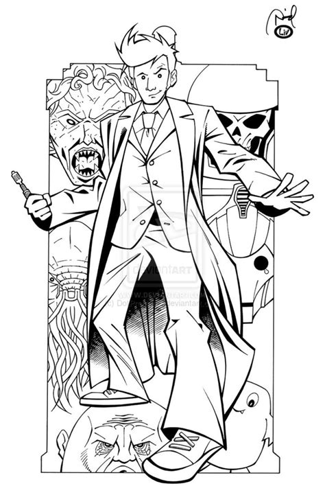 Dr Who 10th Doctor Coloring Pages Sketch Coloring Page Doctor Who Coloring Page