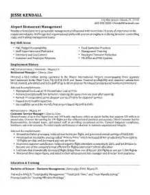 professional resume exle restaurant worker resume exle