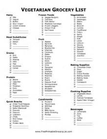 vegan grocery list template printable vegetarian grocery list