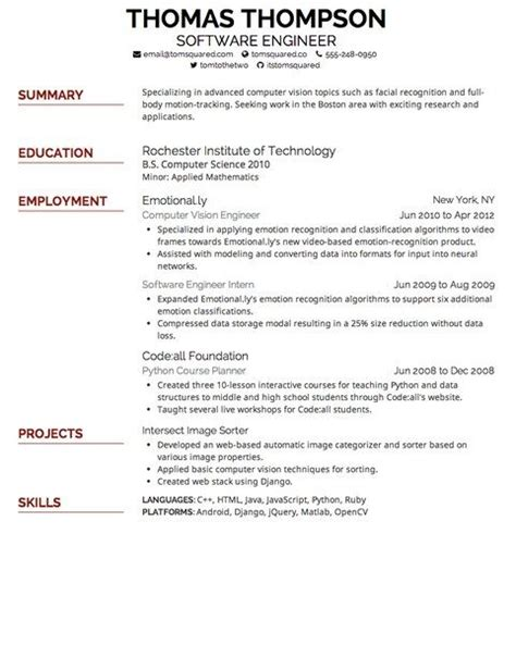 Resume Fonts by Best Resume Font And Size Copy Resume Font Size