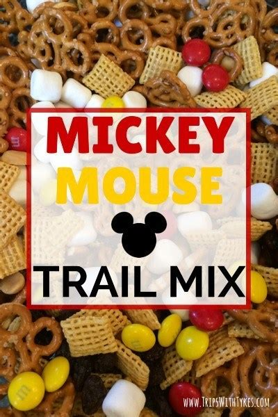 mickey mouse trail mix  perfect  flight  road trip