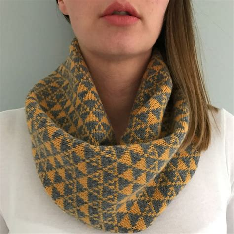 knit snood scarf knitted geometric snood scarf by knitted