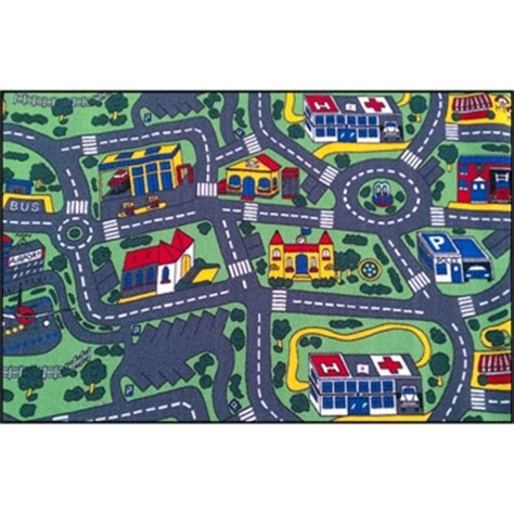 City Roads Car Track Rug Kids Rugs Childerns Rugs Car Track Rug