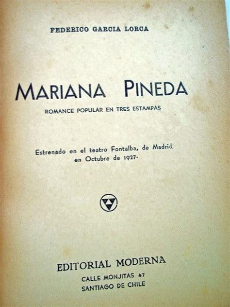 libro mariana pineda romance popular mariana pineda federico garcia lorca tapa dura 240 00 en mercado libre