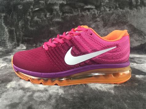 nike air max 2017 purpel pink orange white shoes