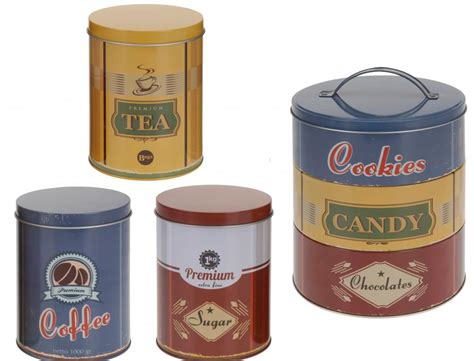 vintage kitchen canisters orange coffee sugar tin canisters retro vintage tea coffee sugar biscuit cookie sweet cake