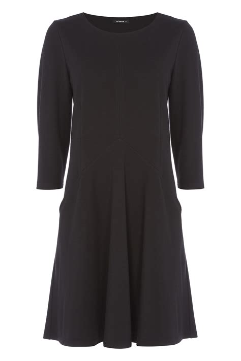 Sleeve Fit Dress 3 4 sleeves fit and flare dress in black romanoriginals