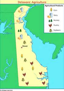 us map of delaware delaware agriculture map