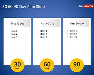 Free 30 60 90 Day Plan Powerpoint Template Free Powerpoint Templates Slidehunter Com 30 60 90 Day Plan Template Powerpoint