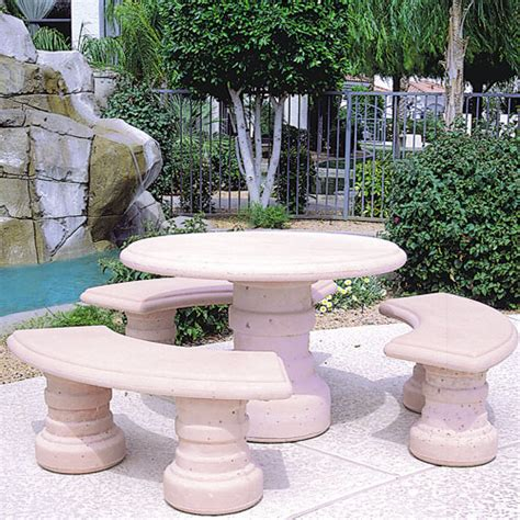 concrete benches tucson concrete landscape tables outdoor concrete tables