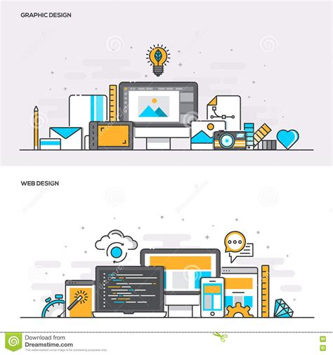 design concept graphic flat design concept banners graphic and web design