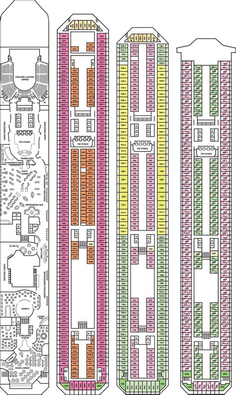 carnival conquest floor plan carnival cruise ship conquest deck plans fitbudha