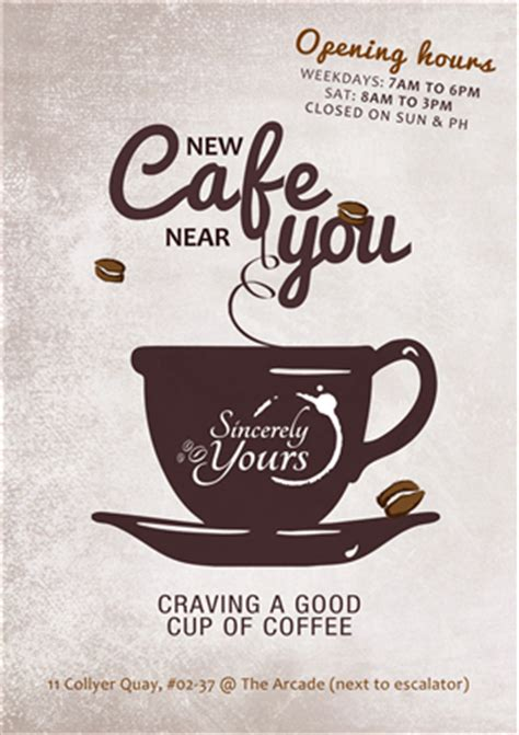 bold serious flyer design design for oct19 coffee pte ltd