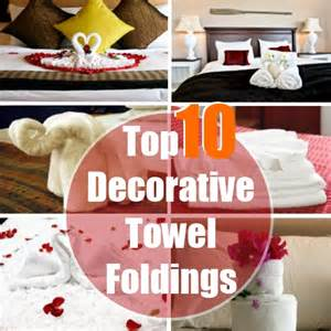Top 10 decorative towel folding techniques diy home things
