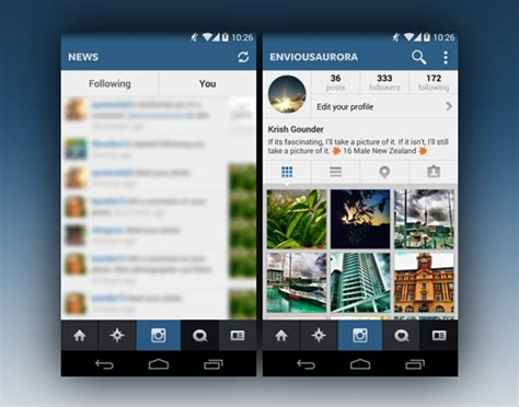 layout app instagram android related keywords suggestions for instagram profile