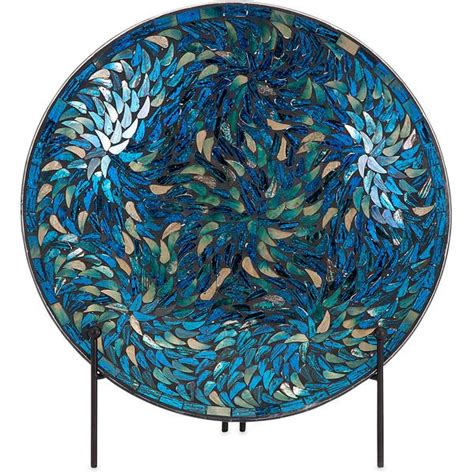 mozaiek l staand peacock mosaic charger and stand froy