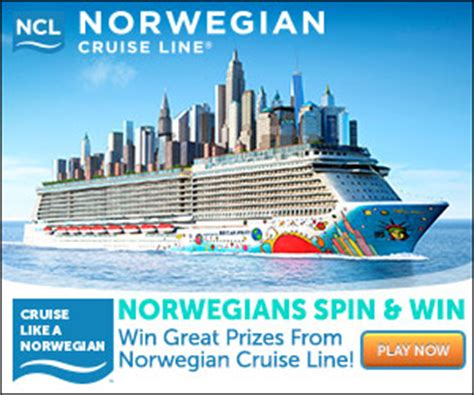 Cruise Line Sweepstakes - norwegian spin win enter to win a cruise