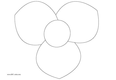 coloring pages flower petals best photos of flower petal outline flower petal outline