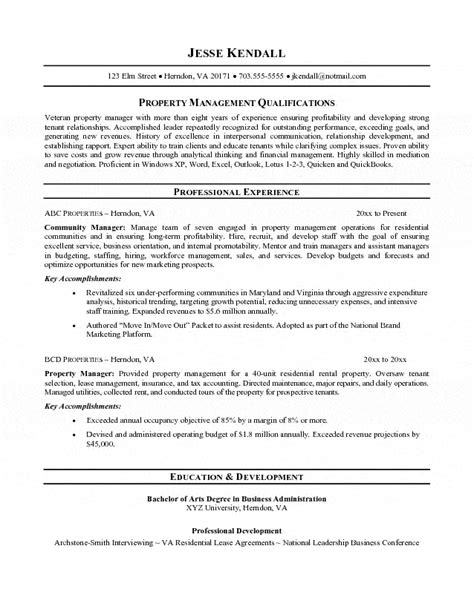 Property Management Specialist Cover Letter by Property Manager Resume