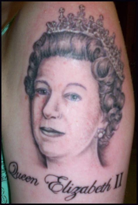 Queen Face Tattoo | queen elizabeth ii tattoo by hellcatmolly on deviantart
