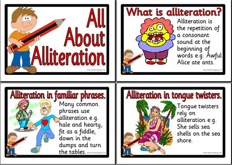 picture books with alliteration 6 1 literacy lesson plan phase 3 4 study