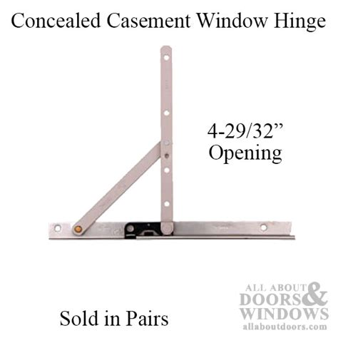 Awning Window Latch Casement Hinge 4 29 32 Opening Truth 10 Inch Track Pair
