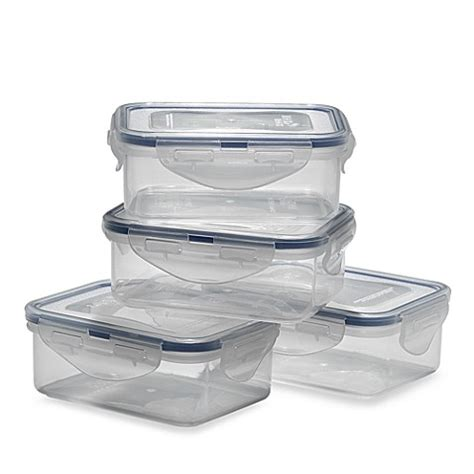 bed bath and beyond containers lock lock 174 rectangular storage containers set of 4