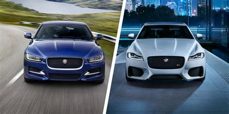 jaguar vs jaguar xe vs xf great saloon brawl carwow