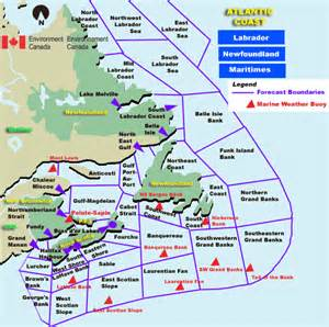 east coast map canada atlantic coast and east map