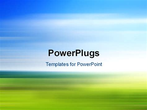 Landscape Ppt Powerpoint Template Colorful And Fast Blurred Background