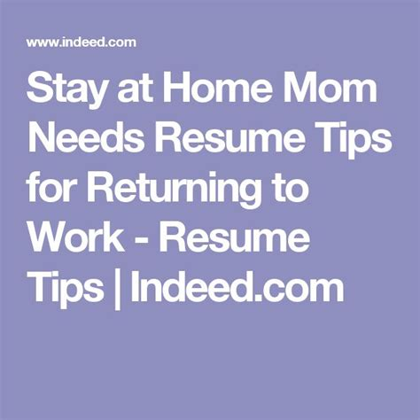 resume tips for stay at home 96 best next part of my images on real