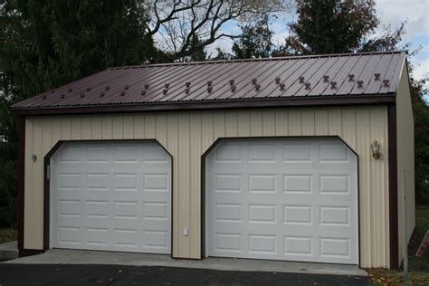 Two Car Garage Prices by Pole Barns Garage Kits Pole Building Apm Buildings Home