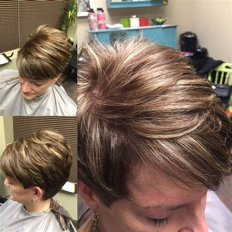 caramel pixie cut short pixie dark caramel base with highlights hair i do