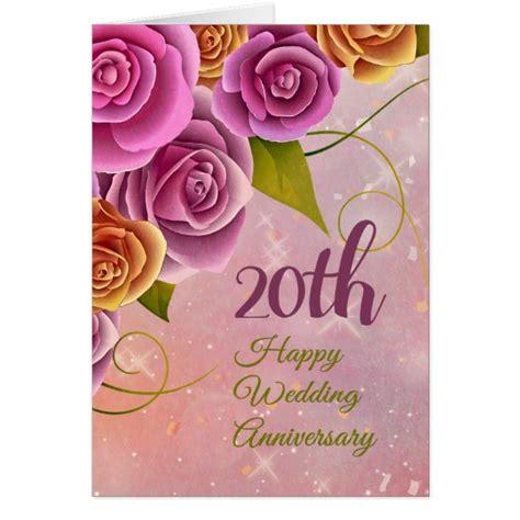 20th wedding anniversary greeting cards zazzle