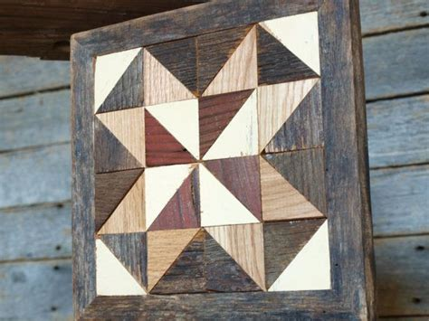 geometric pattern on barns wood mosaic geometric quilt block rustic salvaged barn