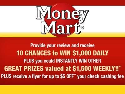 Enter To Win Cash Sweepstakes - www tellmoneymart com enter money mart customer experience survey sweepstakes to